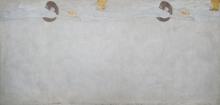 "Gustav Klimt, Beethovenfries: ""Die Sehnsucht nach Glück"" (Tafel 2, linke Langwand) | ""L'anelito della felicità"" (pannello 2, lungo la parete di sinistra), cm. 215 x 454, Inv. n. 5987/2"