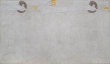 "Gustav Klimt, Beethovenfries: ""Die Sehnsucht nach Glück"" (Tafel 4, linke Langwand) | ""L'anelito della felicità"" (pannello 4, lungo la parete a sinistra), cm. 215 x 365, Inv. n. 5987/4"