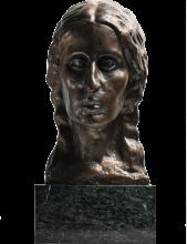 Ferdinand Hodler, Busto di Valentine Godé-Darell ammalata | Büste der kranken Valentine Godé-Darel, Bronzo, Kunstmuseum Solothurn, Schweiz, Dübi-Müller-Stiftung, inv. C 96.6