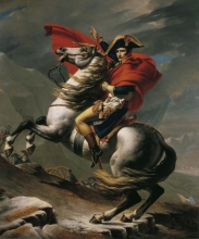 Jacques Louis David (1748-1825), Napoleone sull Gran San Bernardo | Napoleon am Großen St. Bernhard | Napoléon sur le Grand Saint-Bernard, 1801, Dipinto, Olio su tela, cm. 275 x 232, Galerie Belvedere, Wien, inv. n. 2089