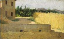 Silvestro Lega, Campo di grano, seconda metà del XIX secolo, Dipinto