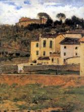 Silvestro Lega, Case a San Gervasio, 1874, Dipinto