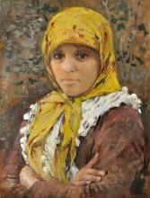Silvestro Lega, Contadina del Gabbro, seconda metà del XIX secolo, Dipinto