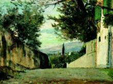 Silvestro Lega, La salita del Pellegrino, 1890, Dipinto
