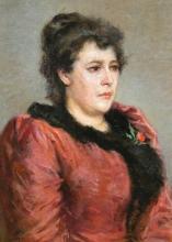 Silvestro Lega, Ritratto della signora Adele Tommasi, seconda metà del XIX secolo, Dipinto, Collezione privata