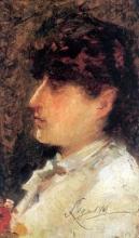Silvestro Lega, Ritratto di Iginia Frediani, 1895, Dipinto