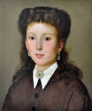 Silvestro Lega, Ritratto di Maria Virginia Fabbroni, seconda metà del XIX secolo, Dipinto