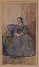 Silvestro Lega, Studio per il ritratto della moglie del pittore Odoardo Borrani, 1872. Domodossola, Collezione Poscio