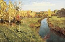 Isaak Ilich Levitan (1860-1900): Autunno dorato, 1895, olio su tela, cm. 82 x 126, Mosca, Galleria Tretyakov