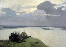 Isaak Ilich Levitan (1860-1900): Sul riposo eterno, 1894, olio su tela, cm. 150 x 206, Mosca, Galleria Tretyakov