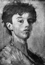 Antonio Mancini, Autoritratto della prima giovinezza