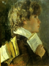 Antonio Mancini, Lo scolaro che porta i libri