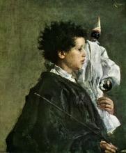 Antonio Mancini, Luigiello con Pulcinella