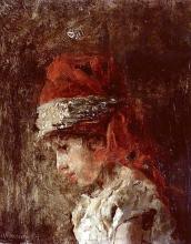 Antonio Mancini, Luigiello con turbante, 1878