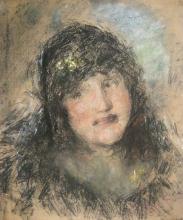 Antonio Mancini, Marcella Traballesi, 1917