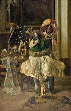 Antonio Mancini, Ricreazione, 1876 circa, dipinto, collezione privata