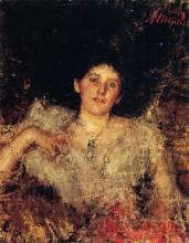 Antonio Mancini, Ritratto di una signora