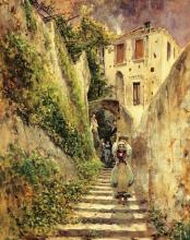 Antonio Mancini, Vicolo di Amalfi, Museo Nazionale di Capodimonte, Napoli, Italia
