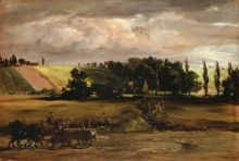 Adolf von Menzel (Breslau 1815 – Berlin 1905): Gewitter am Tempelhofer Berg (Temporale sulla collina di Tempelhofer), 1846, Olio su carta montata su cartone, cm. 31 x 47, Köln, Wallraf-Richartz-Museum