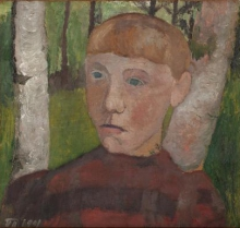 Paula Modersohn-Becker, [Ritratto di donna], 1901, Dipinto