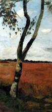 Paula Modersohn-Becker, Birke in der Heide (Betulla nella brughiera), 1902, Dipinto, Olio, Collezione privata