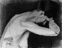 Paula Modersohn-Becker, Busto femminile chinato in avanti verso destra, 1897/98, Paula-Modersohn-Becker-Stiftung, Bremen