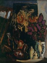 Paula Modersohn-Becker, Natura morta con fiori e figure