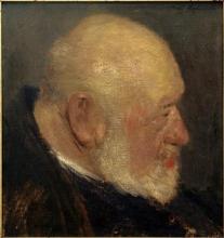 Paula Modersohn-Becker, Sitzender Alter (Vecchio uomo seduto), 1898, Collezione privata
