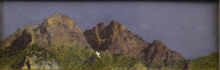Angelo Morbelli, Cime rocciose, Collezione privata in deposito nel Museo Civico e Gipsoteca Bistolfi, Casale Monferrato