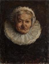 Angelo Morbelli, Testa di vecchia, Collezione privata in deposito nel Museo Civico e Gipsoteca Bistolfi, Casale Monferrato