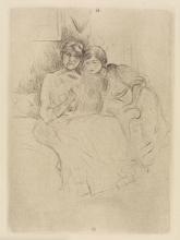 Morisot, Berthe Morisot che disegna con sua figlia.png