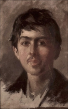 Giuseppe Pellizza da Volpedo, Autoritratto giovanile, 1888