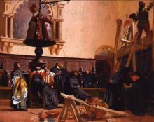 Antonio Puccinelli, Il pittore in sacrestia, olio su tela, Galleria d'Arte Moderna, Firenze