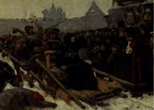 Vasily Ivanovich Surikov (1848-1916): Boyarynya Morozova, 1881, olio su tela, cm. 48,7 x 72, Mosca, Galleria Tretyakov