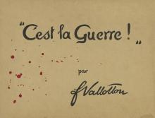 Vallotton, Portfolio: C'est la Guerre, copertina stampata in inchiostro nero e rosso su cartone, 26,8 x 34,6 cm, Van Gogh Museum, Amsterdam