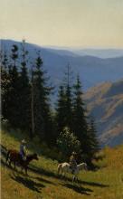 Vasily Vasilyevich Vereshchagin (1842-1904), Sui monti Alatau, 1869-1870, olio su tela, 40,9 x 28, Mosca, Galleria Tretyakov [dettaglio]