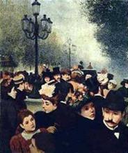 Federico Zandomeneghi, Boulevard des italiens