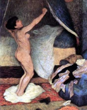 Federico Zandomeneghi, Il risveglio: donna che si stira | Le lever: femme s'étirant, 1886