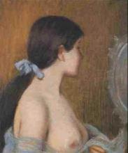 Federico Zandomeneghi, Giovane donna allo specchio