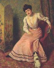 Federico Zandomeneghi, Giovane donna con cane
