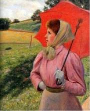 Federico Zandomeneghi, La donna con l'ombrello, 1895