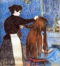 Federico Zandomeneghi, La pettinatura, 1890