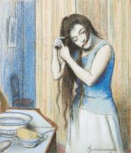 Federico Zandomeneghi, La toilette, 1890 circa