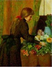Federico Zandomeneghi, Ragazza che dispone dei fiori