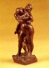 Zorn, Fauno e ninfa | Faun och nymf | Faune et nymphe | Faun and nymph, 1895, Bronzo, cm. 43,7
