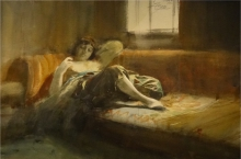 Zorn, Odalisca dormiente | Odalisque endormie | Sleeping odalisque, 1886