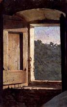 Giuseppe Abbati (attribuito a), Finestra di casa di campagna