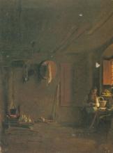 Giuseppe Abbati (attribuito a), Interno di cucina