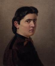 Giuseppe Abbati (attribuito a), Ritratto