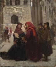 Giuseppe Abbati, (attribuito a), La supplica